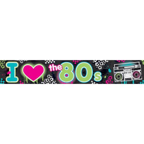 Totally 80's Foil Banner - Ziggos.com