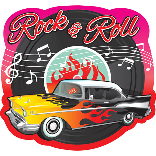 Classic 50 39 s rock and roll cutout for Decoration 50 s