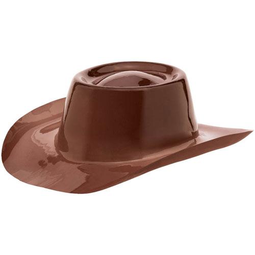 Brown Plastic Cowboy Hat Ziggos Com