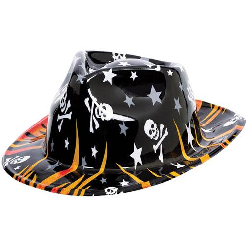 rock on rockstar flames cowboy hat. Black Bedroom Furniture Sets. Home Design Ideas