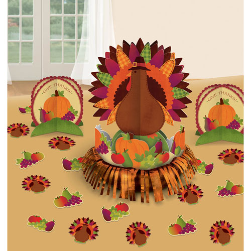 Thanksgiving table decorating kit ziggos