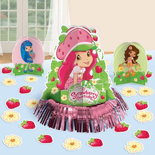 Strawberry Shortcake Party Tablec Decorating Kit
