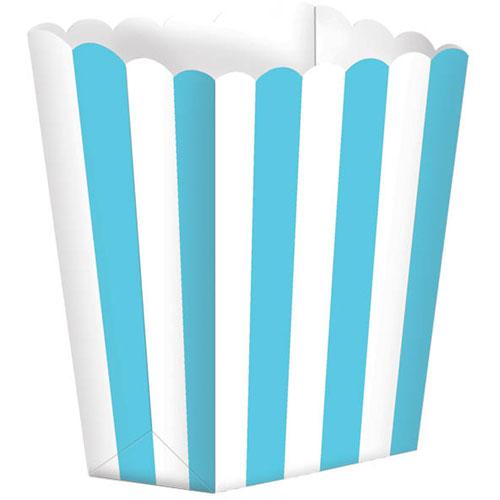 Caribbean Blue Favor Boxes : Caribbean blue small striped favor boxes ziggos