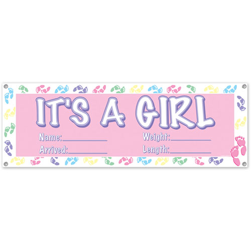 its a girl banners