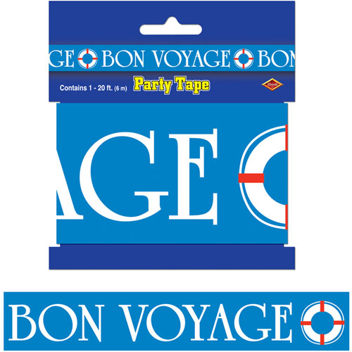 Bon voyage party tape for 66180 1