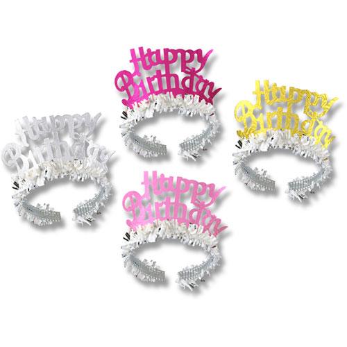 Happy Birthday Tiaras W/Fringe