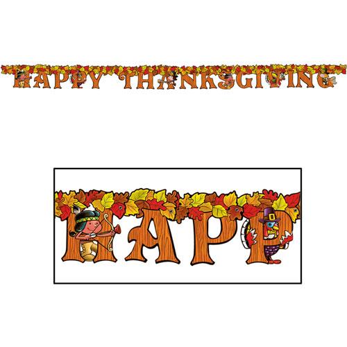 Happy thanksgiving letter banner ziggoscom for Happy thanksgiving banners