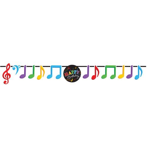 Dancing Music Notes Ribbon Banner