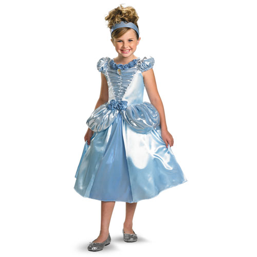 Disney Store Deluxe Cinderella Costume For Baby Toddler 2t: Cinderella Shimmer Deluxe Costume Girls XS (3T-4T