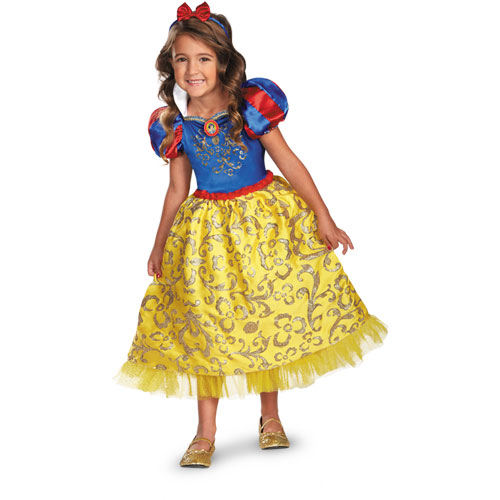 Disney Store Deluxe Cinderella Costume For Baby Toddler 2t: Snow White Sparkle Deluxe Costume Girls XS (3T-4T