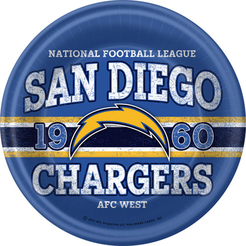 San Diego Chargers Gifts: San Diego Chargers Dinner Plates