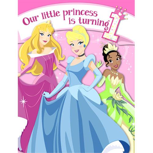 1st Birthday Princess Invitations - Ziggos.com