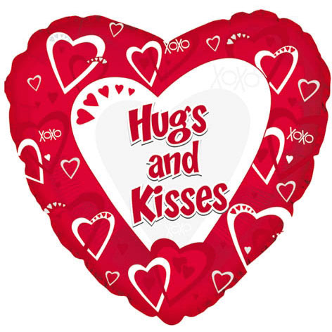 18 Quot Hugs N Kisses Red Ziggos Com