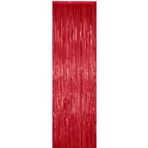 Metallic Fringe Curtain Red Ziggos Com